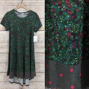 "NWT LuLaRoe floral/polka dot ""Carly"" dress"